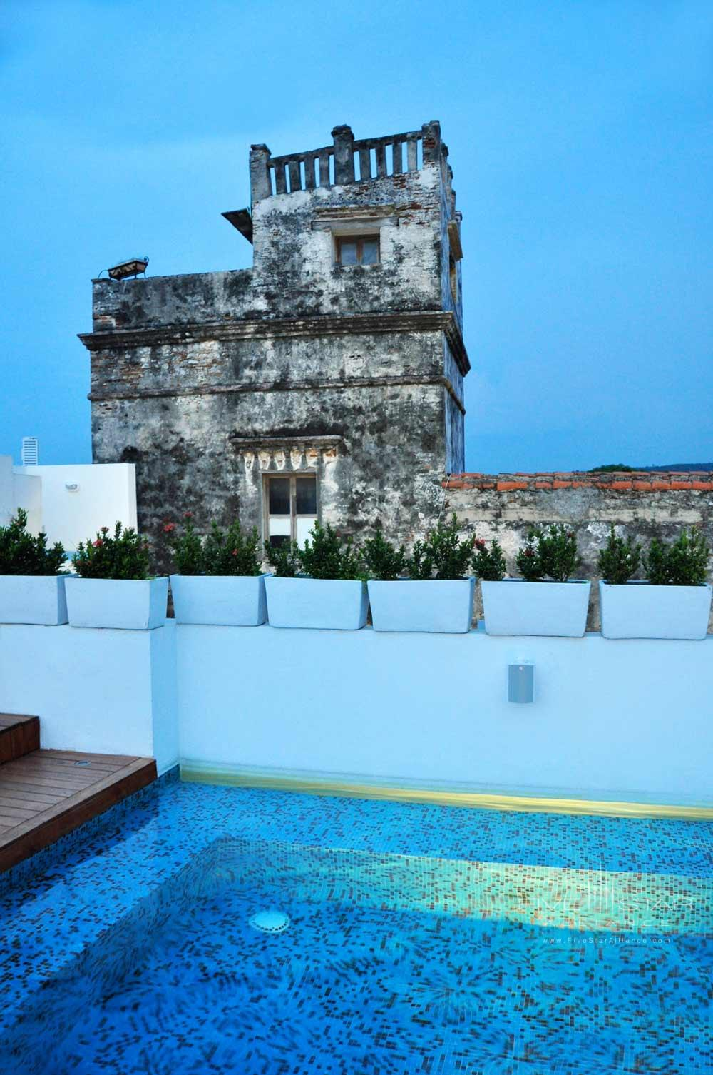 Rooftop Pool and Lounge at Tcherassi Hotel Cartegena, Columbia