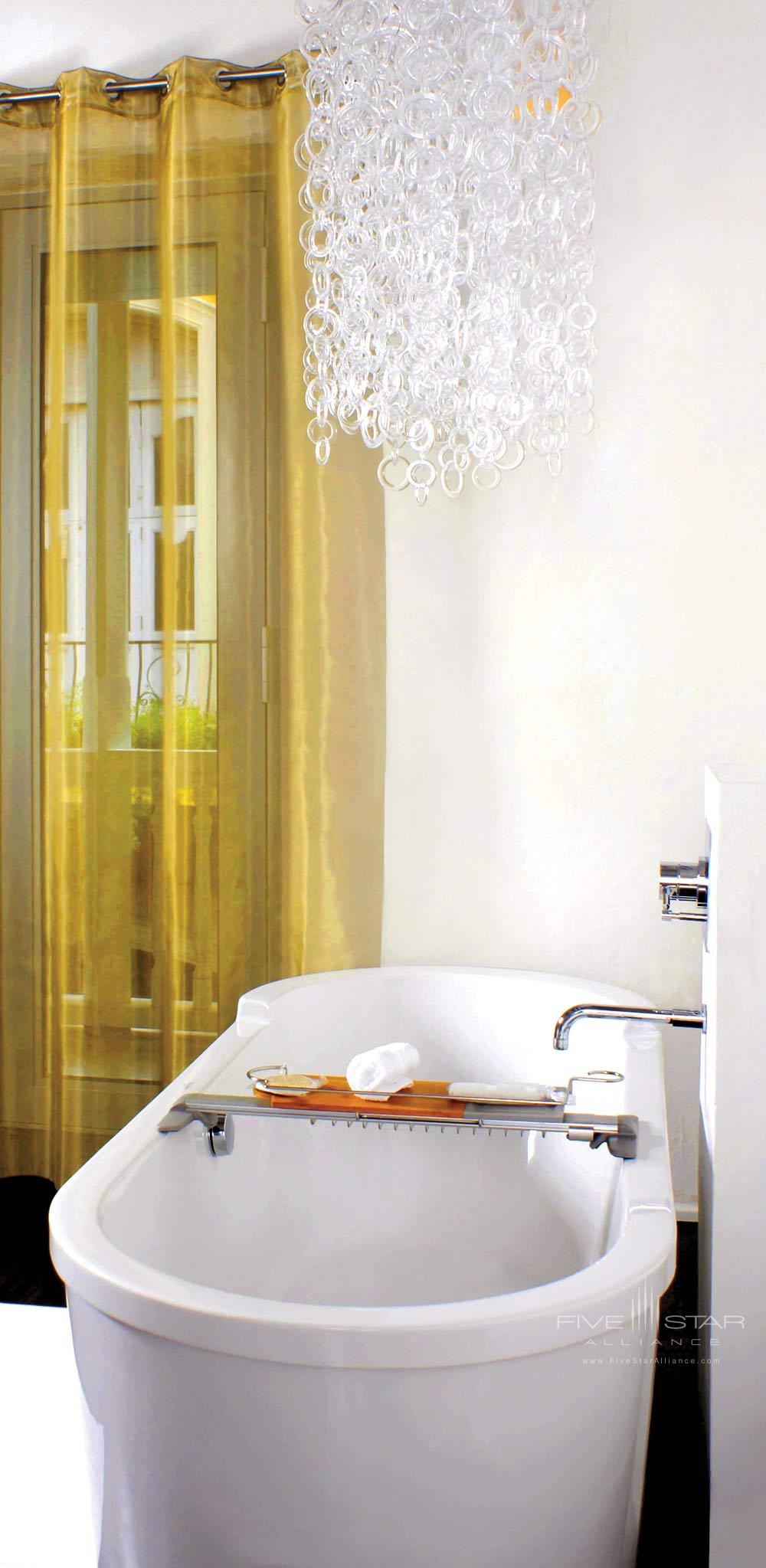 Peau de Soie room Bathtub at Tcherassi Hotel Cartegena, Columbia