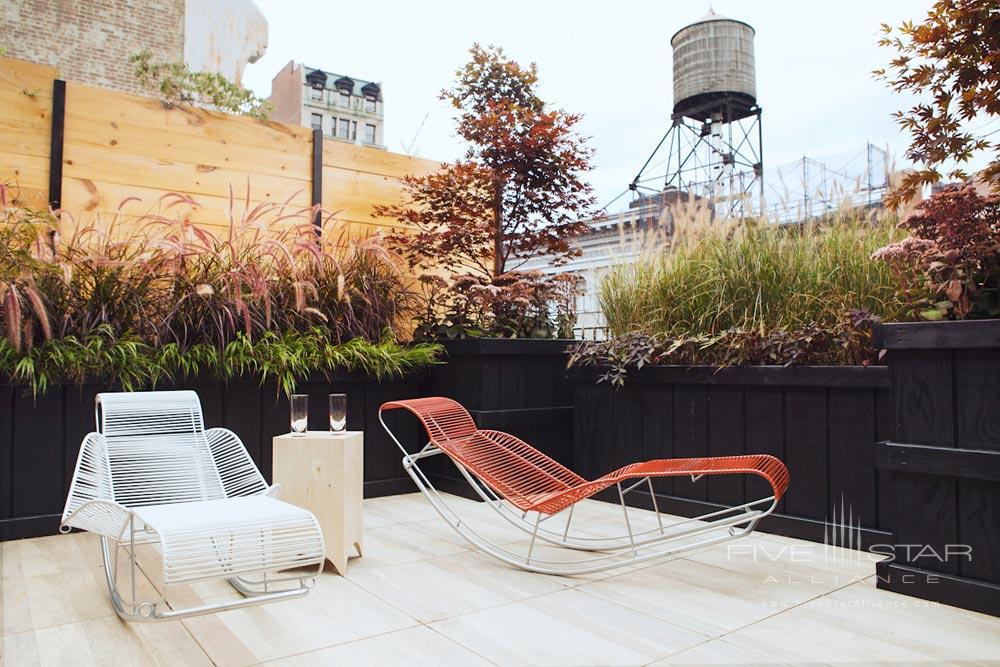 Broomhouse Terrace at The Broome Hotel New York, NY