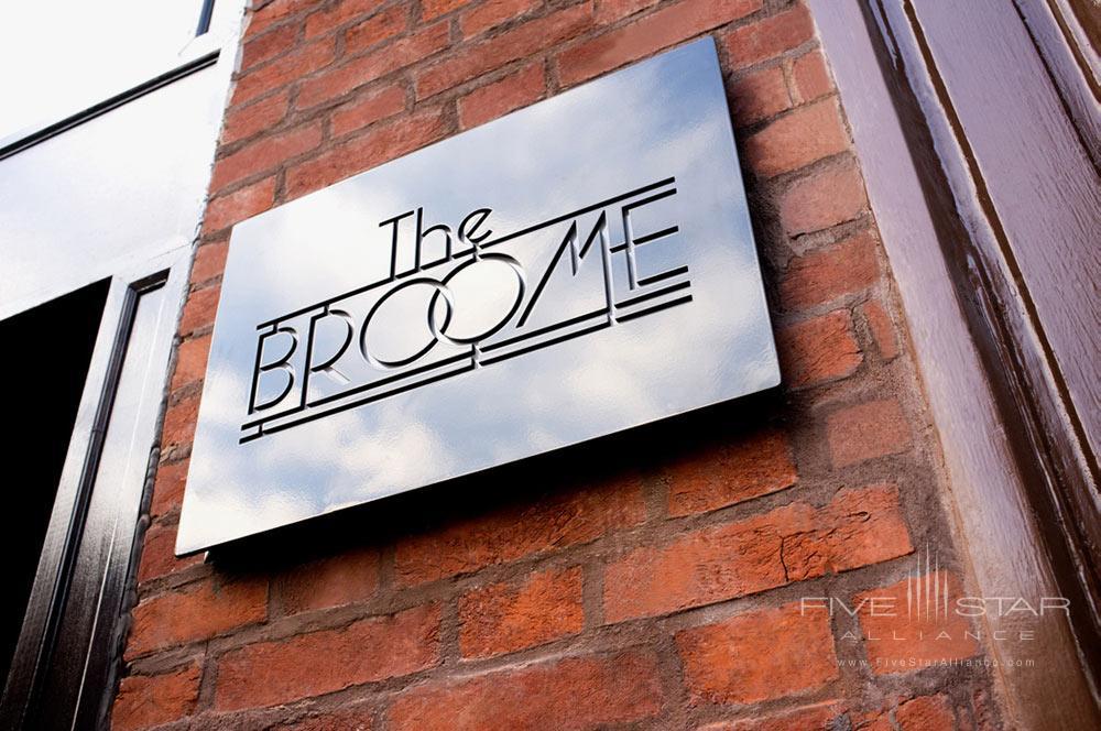 Broomhouse Sign at The Broome Hotel New York, NY
