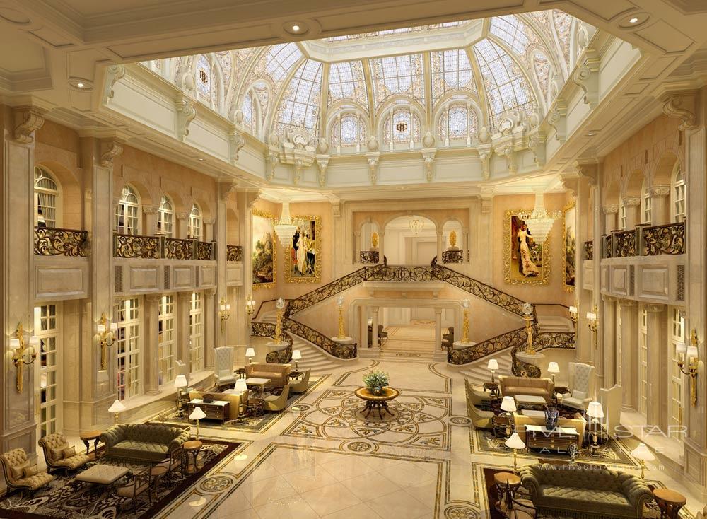 Lobby at the Castle Hotel Dalian, China