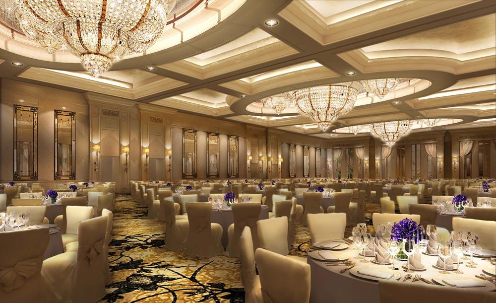 Banquet space at the Castle Hotel Dalian, China