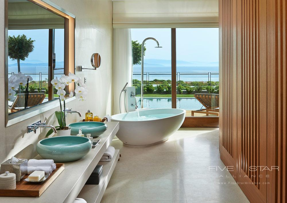 Sea View Suite Bath at Mandarin Oriental Bodrum