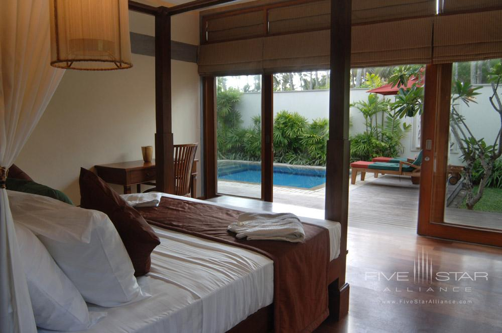 Bedroom with Plunge Pool at Serene Pavilions