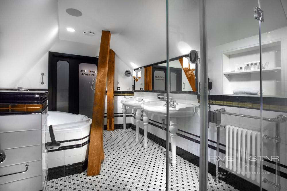 The Tower Suite Bath at Hotel Paris Prague