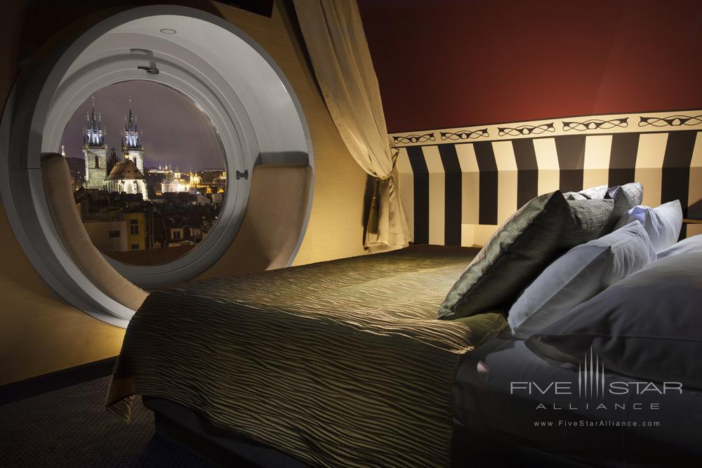 The Tower Suite Bedroom at Hotel Paris Prague