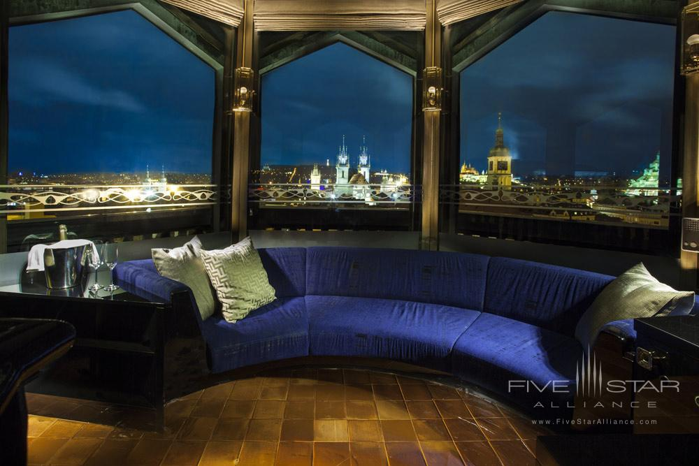 The Tower Suite Lounge Area at Hotel Paris Prague