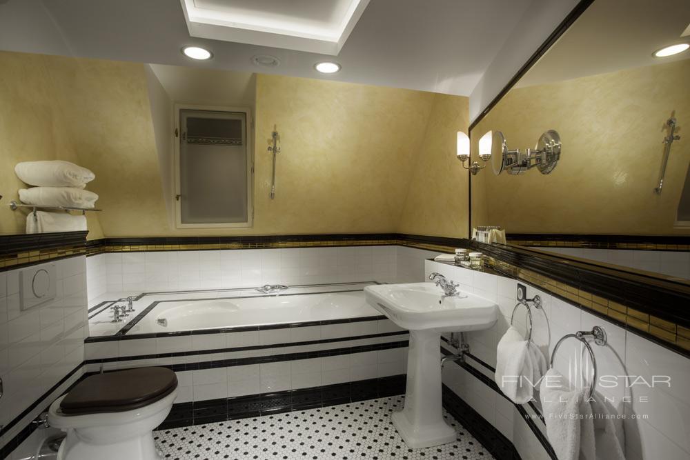 The Mucha Suite Bath at Hotel Paris Prague