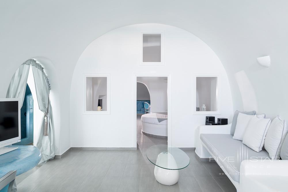 Deluxe Plunge Pool & Indoor Jacuzzi Suite Living AreaPegasus Suites and SpaSantorini