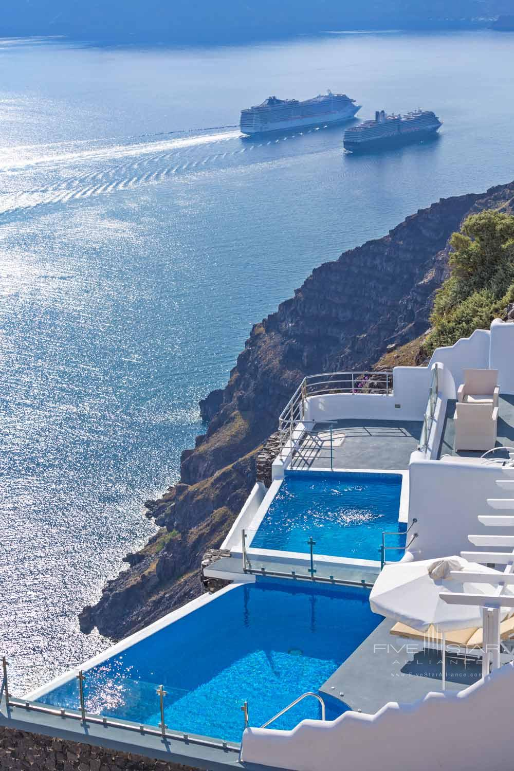 View of Plunge Pool Suites and Terraces at Pegasus Suites and Spa, Santorini