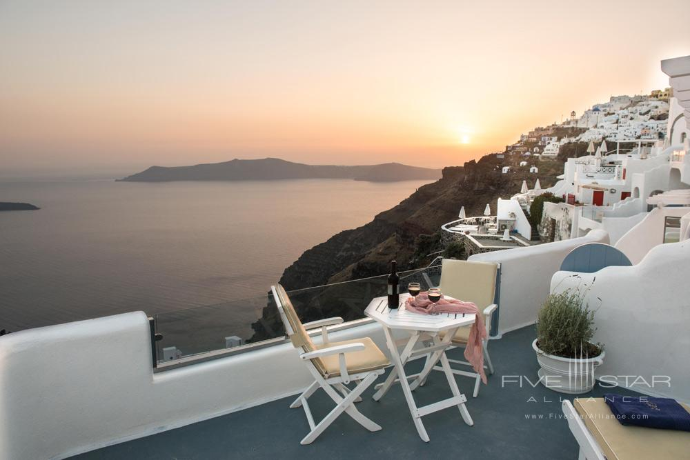 Wine On The Terrace At SunsetPegasus Suites and Spa, Santorini