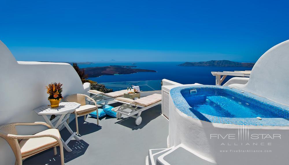 Honeymoon Jacuzzi Suite Private Terrace at Pegasus Suites and SpaSantorini