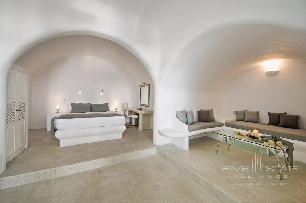 Suite Bedroom and Living AreaPegasus Suites and Spa, Santorini
