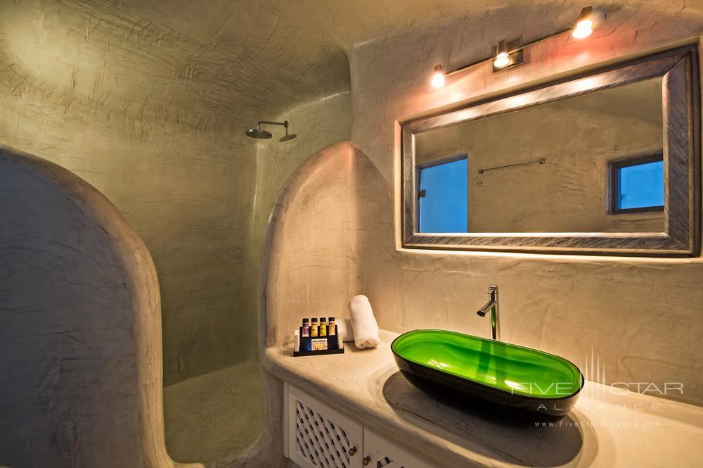 Angels Infinity Pool Suite Bathroom at Pegasus Suites and SpaSantorini