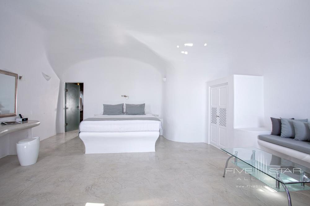 Angels Infinity Pool Suite Bedroom at Pegasus Suites and Spa, Santorini