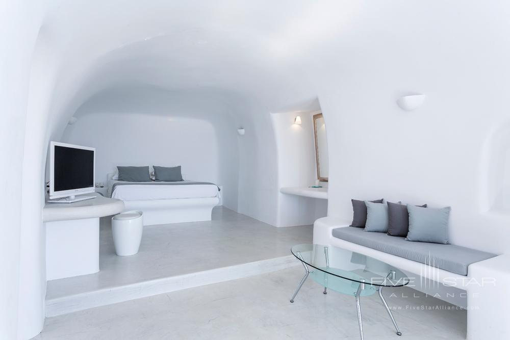 Executive Plunge Suite Bedroom at Pegasus Suites and Spa, Santorini