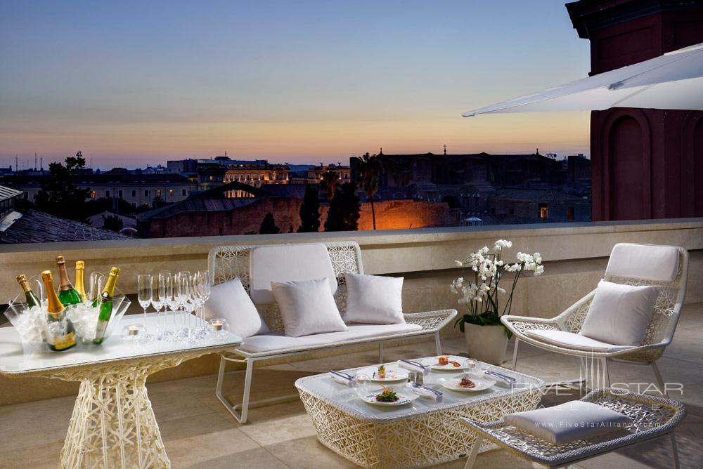 Terrace at Palazzo Montemartini, Rome
