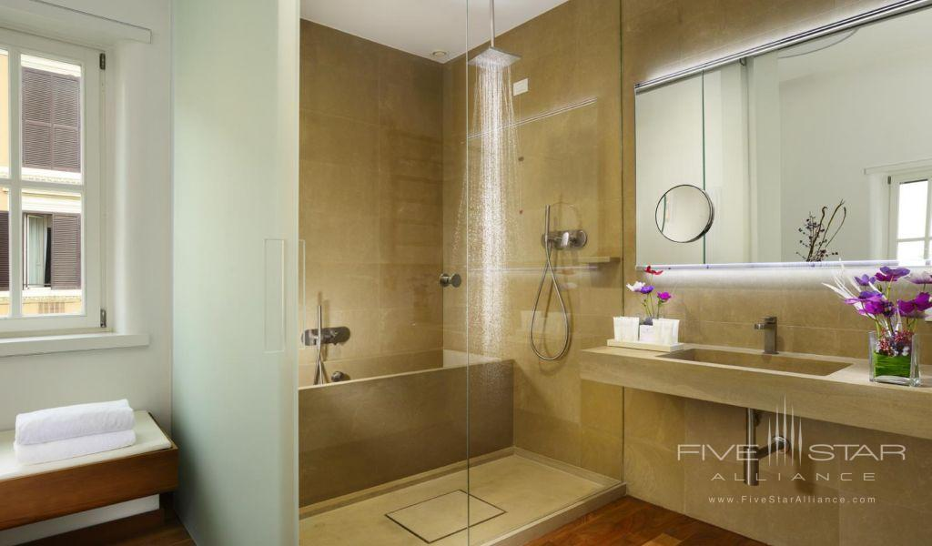Guest bathroom at the Palazzo Montemartini in central Rome, Italy