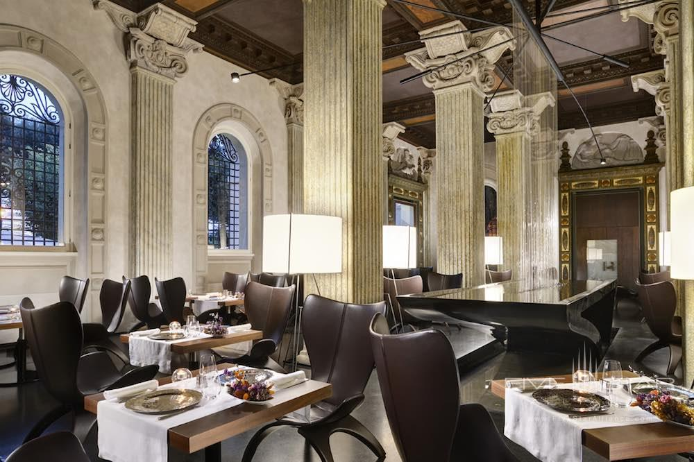 Senses Restaurant at the Palazzo Montemartini in central Rome, Italy