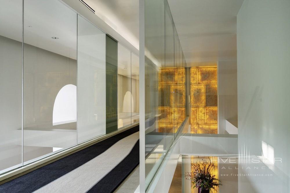 Corridor of the Palazzo Montemartini in central Rome, Italy