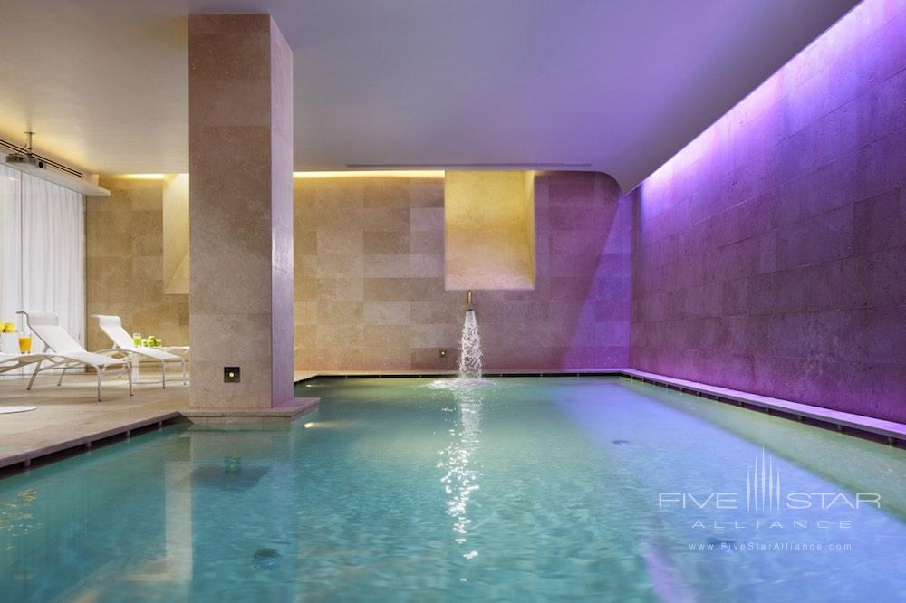 Indoor pool at the spa at Palazzo Montemartini in central Rome, Italy