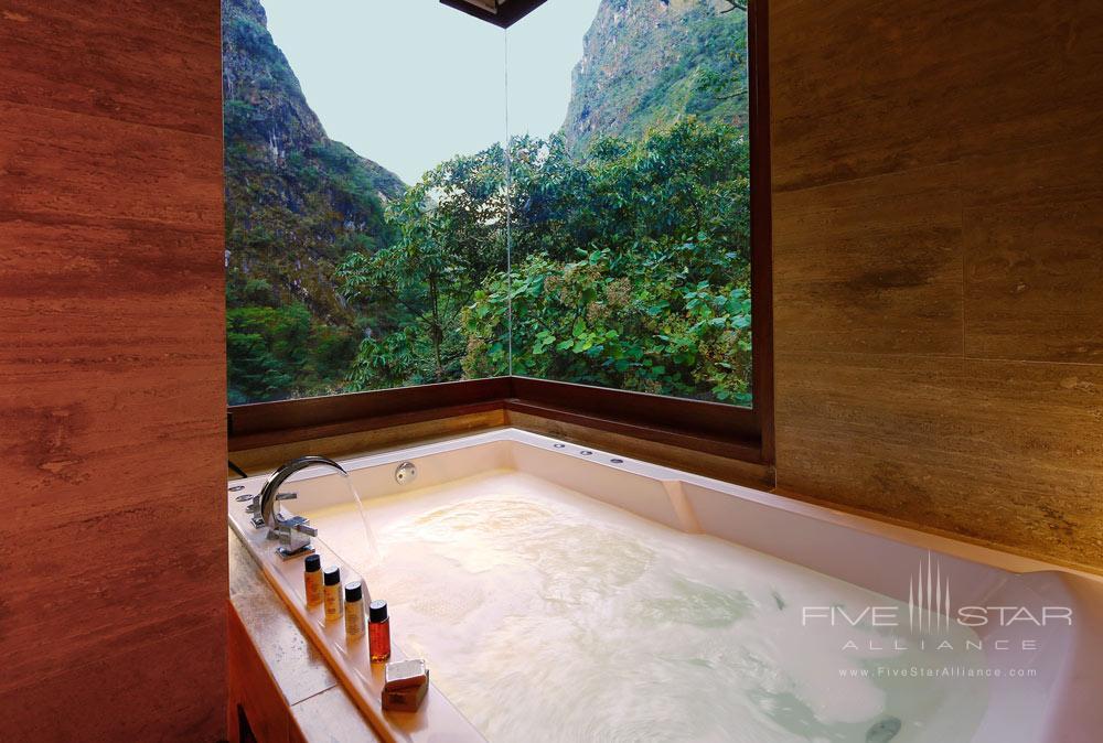 Imperial Suite Bath at Sumaq Machu Picchu Hote, lMachu Picchu, Peru