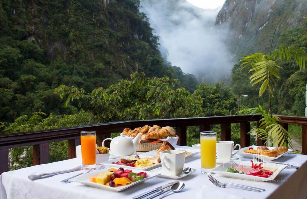 Qunuq Restaurant Terrace at Sumaq Machu Picchu Hote, lMachu Picchu, Peru