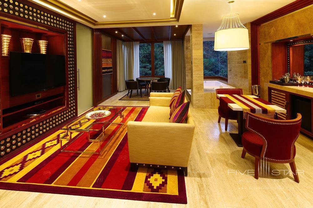 Suite Imperial Living Room at Sumaq Machu Picchu Hote, lMachu Picchu, Peru