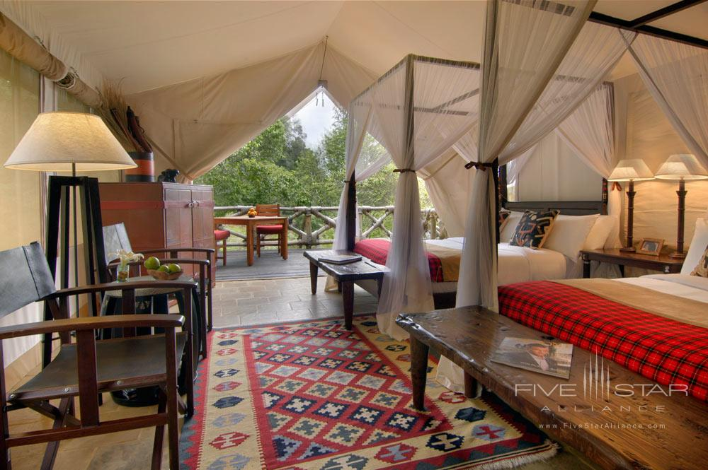 Double Guest Room at Fairmont Mara Safari Club