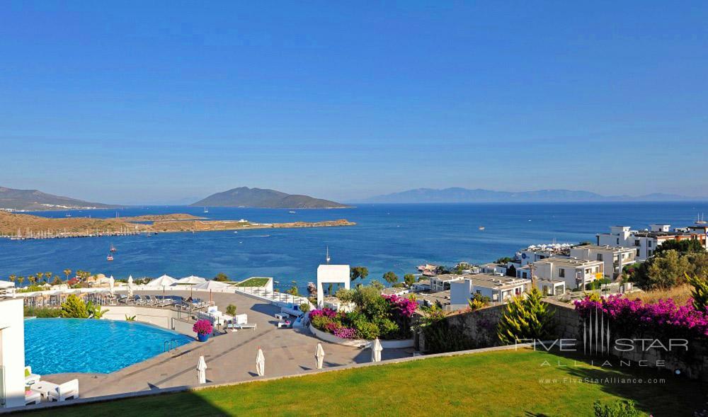 Resort view at Doria Hotel Bodrum, Turkey