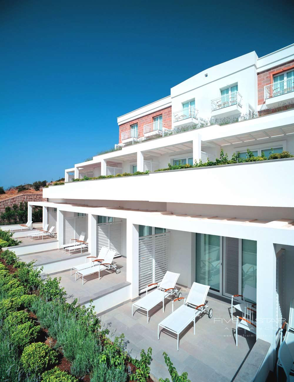 Grand Deluxe Sea Room Terrace View at Doria Hotel Bodrum, Turkey