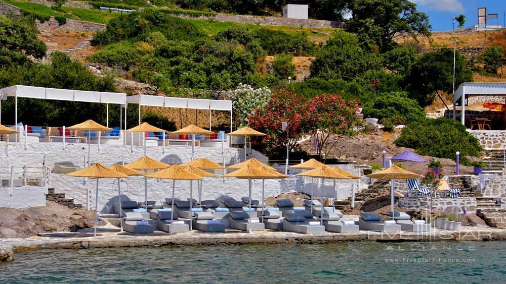 Beach at Doria Hotel Bodrum, Turkey