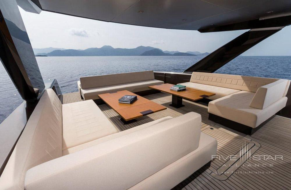 Speed Boat Interior at D-Resort Gocek, Turkey