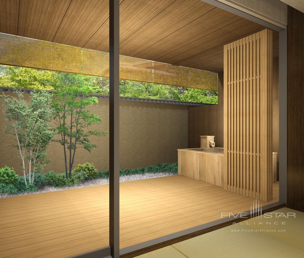 Terrace at Suiran, Kyoto, Japan