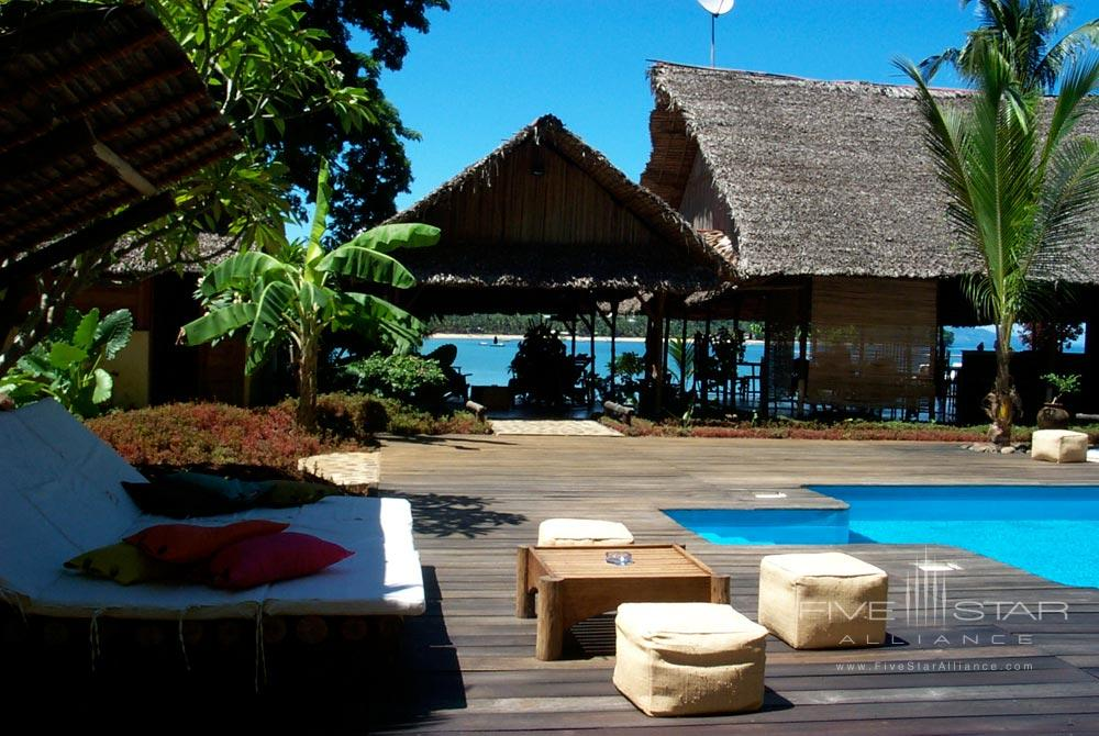 Have a relaxing day by the freshwater pool at LHeure Bleue Hotel, Madagascar