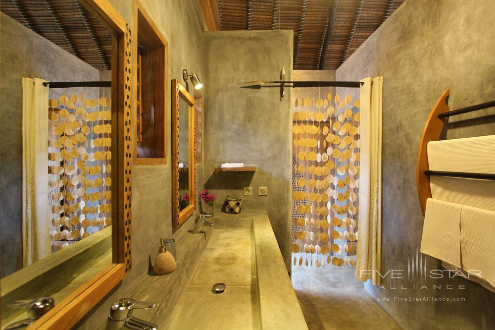 Bungalow bath at LHeure Bleue Hotel, Madagascar