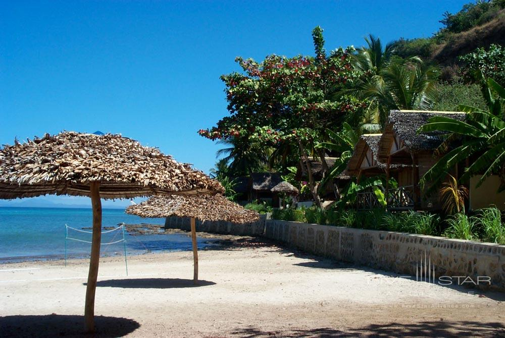 View from bungalows at LHeure Bleue Hotel, Madagascar