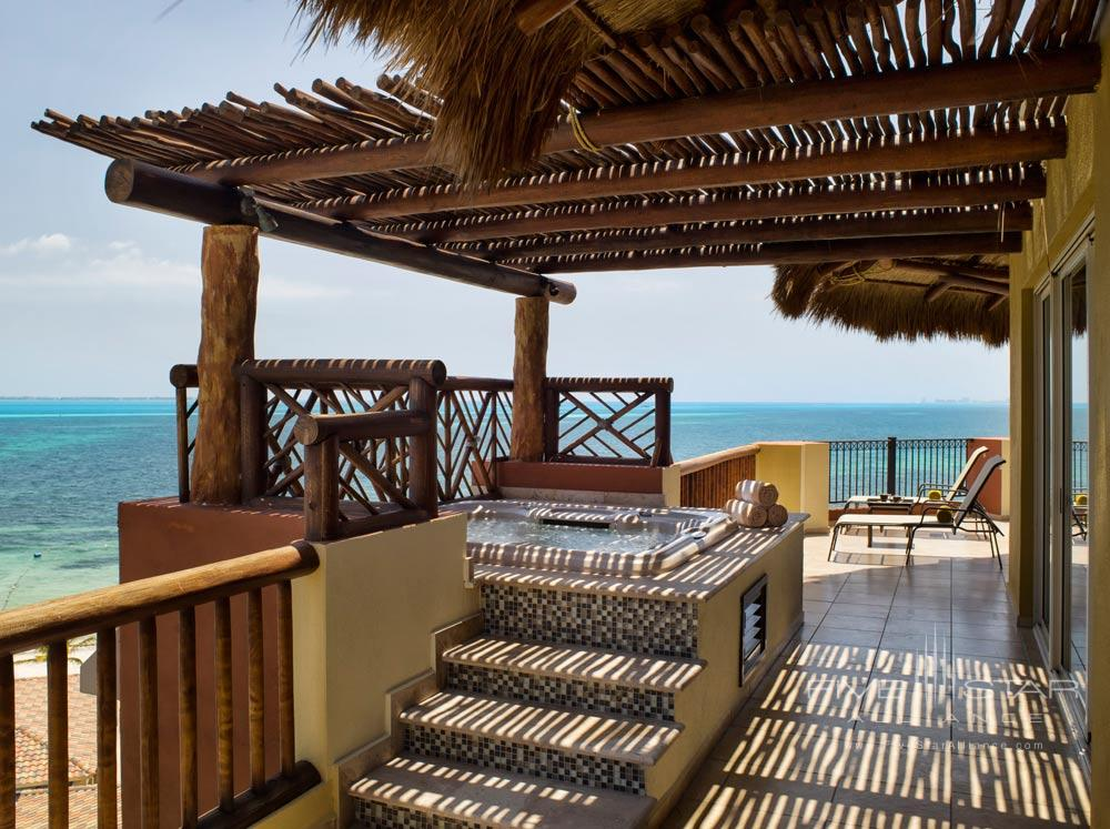 Balcony and Spa at Villa del Palmar Cancun, Mexico