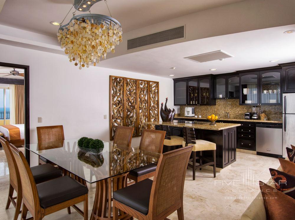 Three Bedroom Penthouse Kitchen, Villa del Palmar Cancun, Mexico