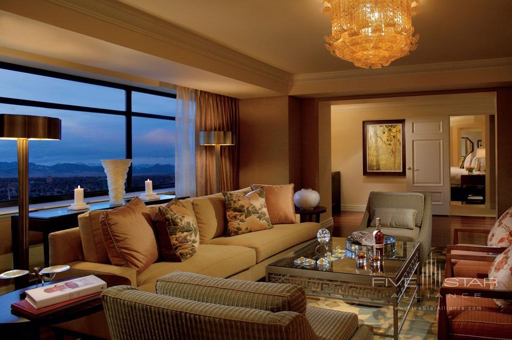 Living area of The Ritz Carlton SuiteRitz Carlton DenverCO