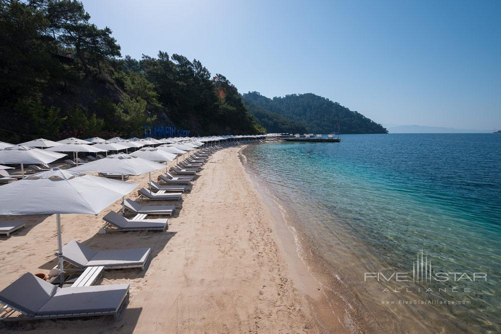 Beach View From Pier at D-Resort Gocek, Turkey
