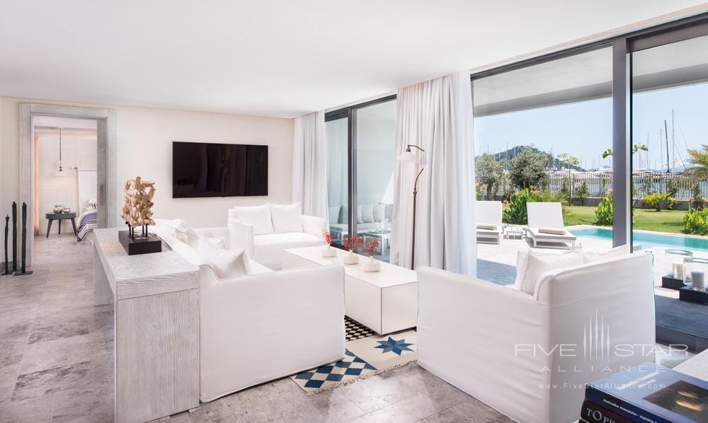 Presidential Suite Living Room at D-Resort Gocek, Turkey