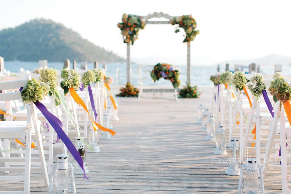 Wedding Venue at D-Resort Gocek, Turkey