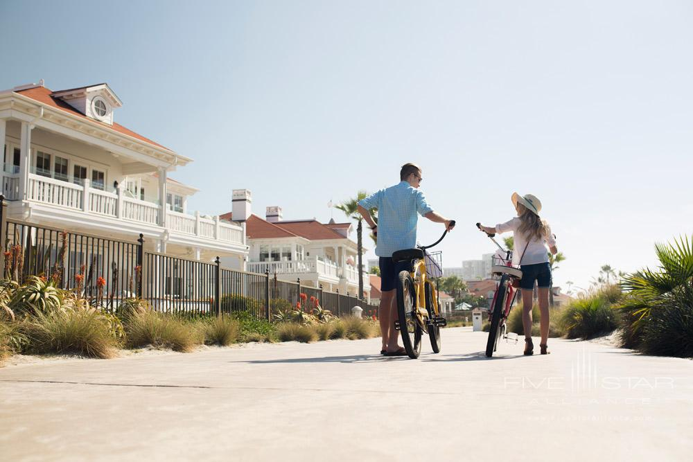 Enjoy bike riding activities while at Beach Village at The Del, San Diego