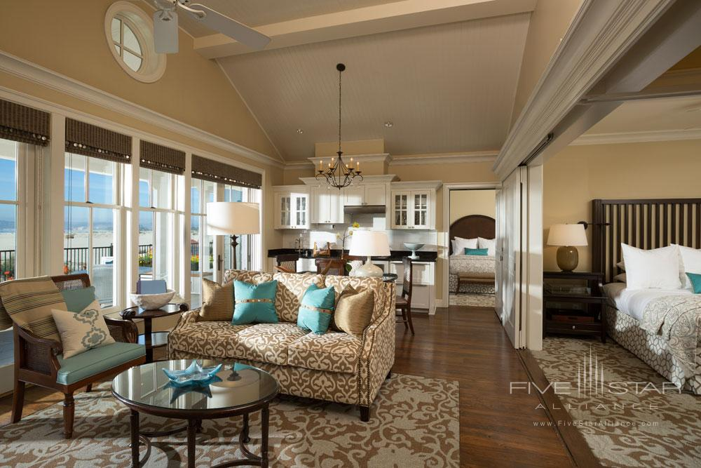 Cottage Living Area at Beach Village at The Del
