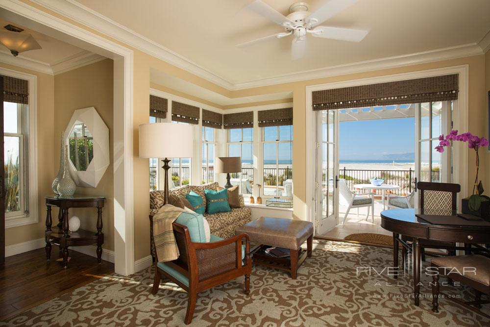 Cottage Lounge area with amazing water views at Beach Village at The Del, San Diego