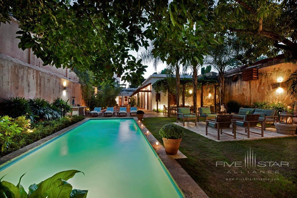 Outdoor Pool and Patio at Casas del XVI, Santo Domingo, Dominican Republic