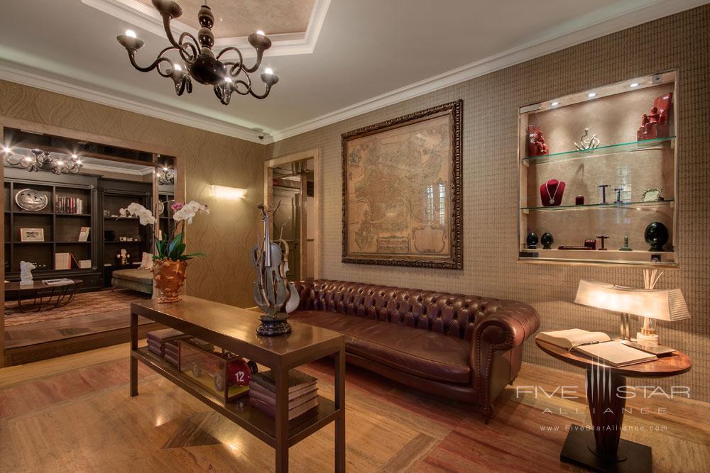 Lounge at Palazzo Manfredi, Rome, Italy