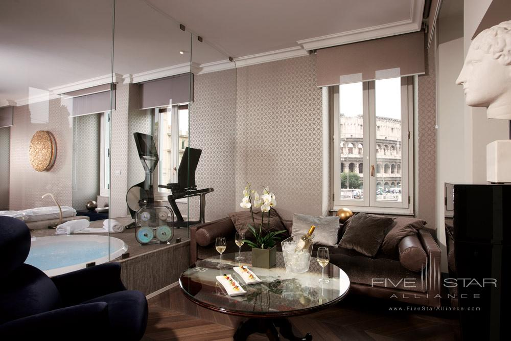 Suite Lounge at Palazzo Manfredi, Rome, Italy