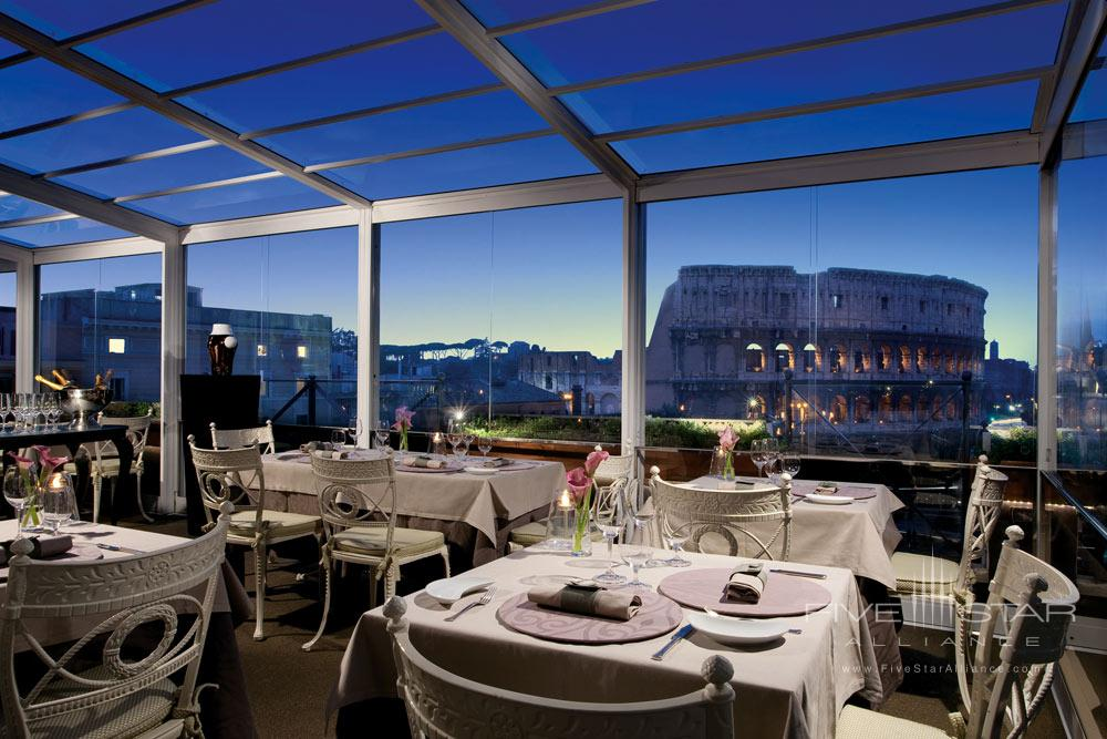 Dining with views at Palazzo Manfredi, Rome, Italy